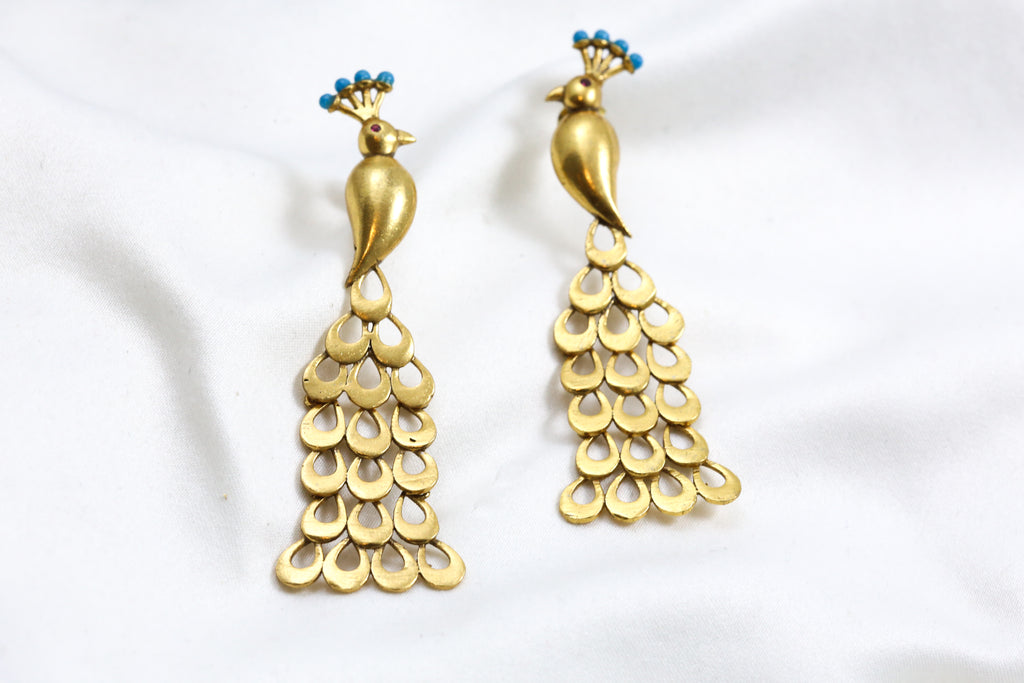Delicate Peacock Earrings