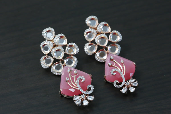 Contemporary Rose Gold Pink Earrings