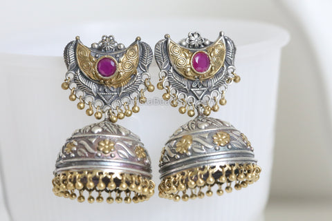 Ruby Two Tone Jhumka