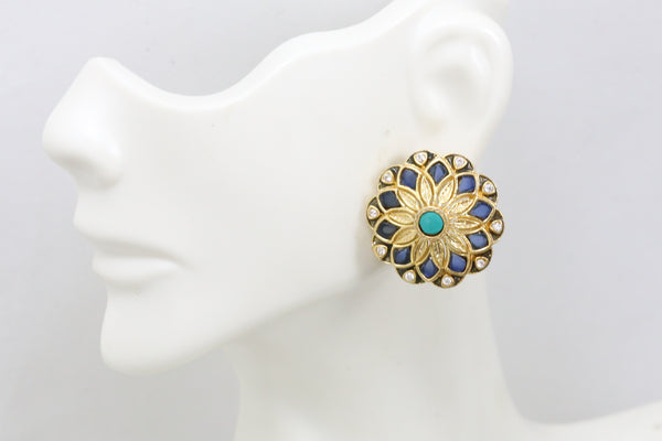 Turquoise Blue 925 Sterling Silver Stud
