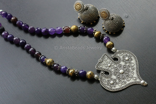 Dual Tone Indian Beaded Necklace