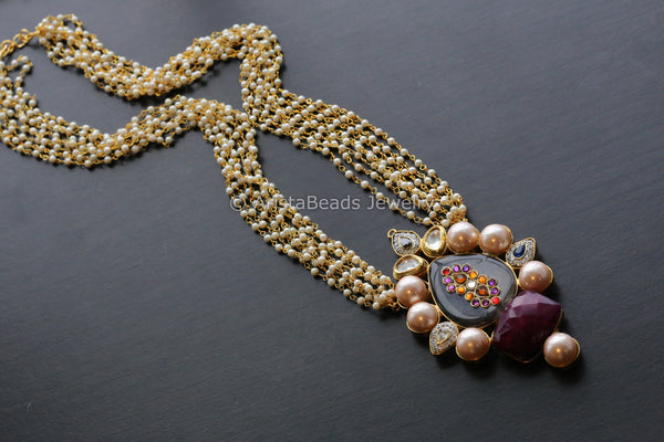 Contemporary Kundan Mala Necklace