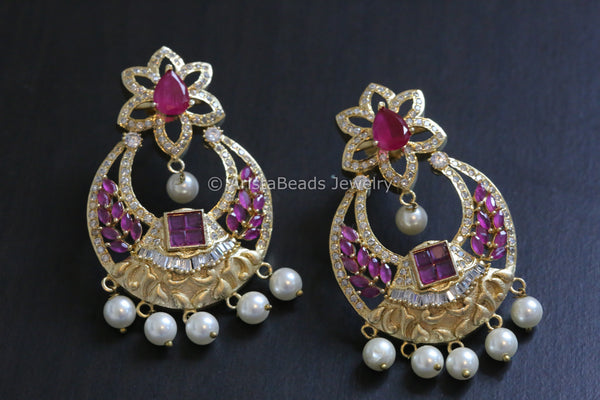 Contemporary Chandbali Earrings