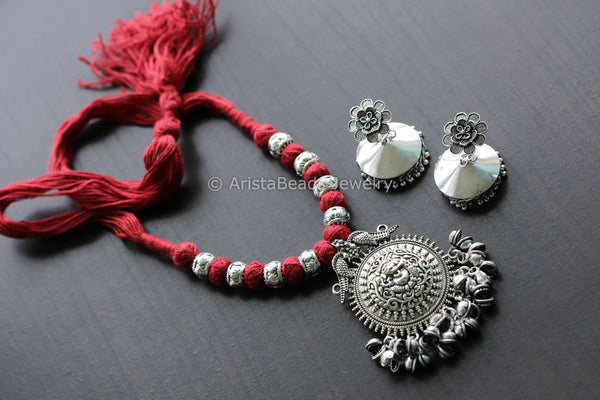 Red Ganesha Necklace