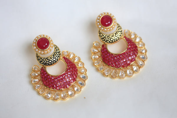 Contemporary CZ Chandbaali - AristaBeads Jewelry - 1