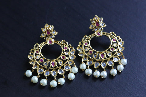 Ruby Uncut Polki Earrings