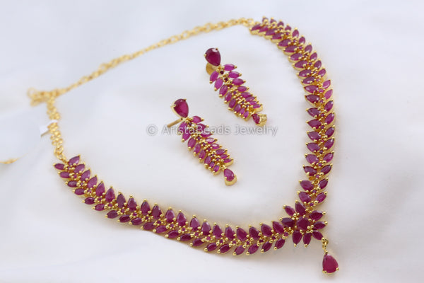 Delicate Ruby Polki Necklace