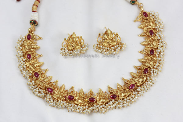 Ganesha Temple Necklace Set