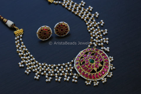 Handmade Kundan Necklace Set