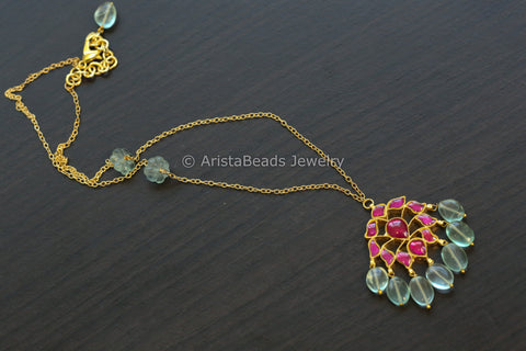 Handmade Delicate Kundan Necklace