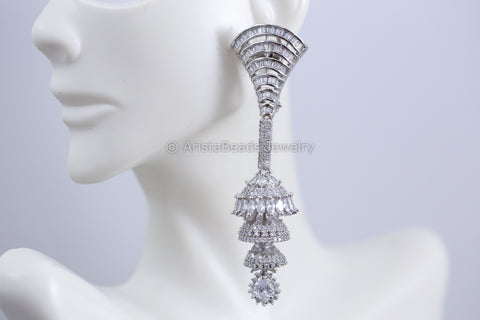 Premium Quality Layered CZ Jhumka