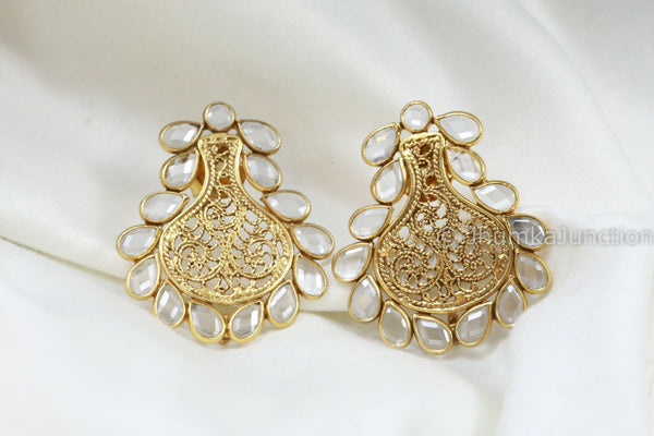 Cute Polki 925 Stud Earrings