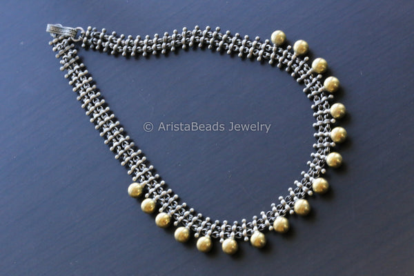 925 Sterling Silver Dual Tone Necklace