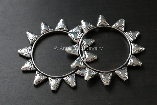 Oxidized Tribal Cuff Bangle Set