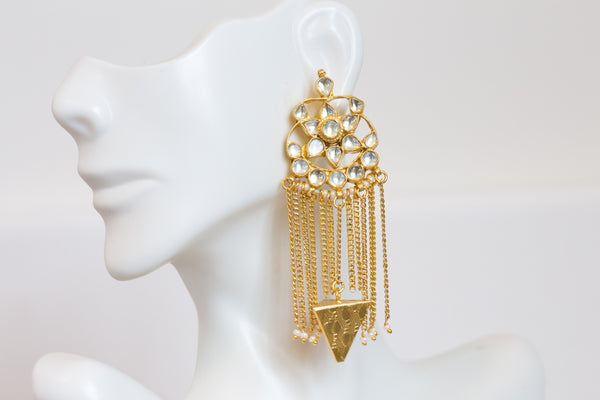 Kundan Tassel Earrings