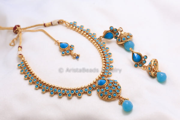 Antique Turquoise Necklace Set - AristaBeads Jewelry - 2