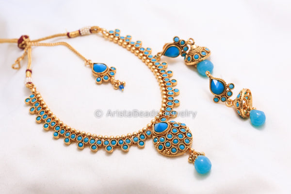 Antique Turquoise Necklace Set - AristaBeads Jewelry - 5