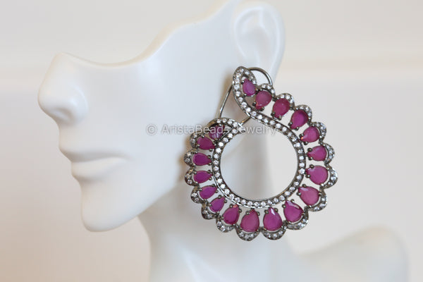 Victorian Ruby Earrings