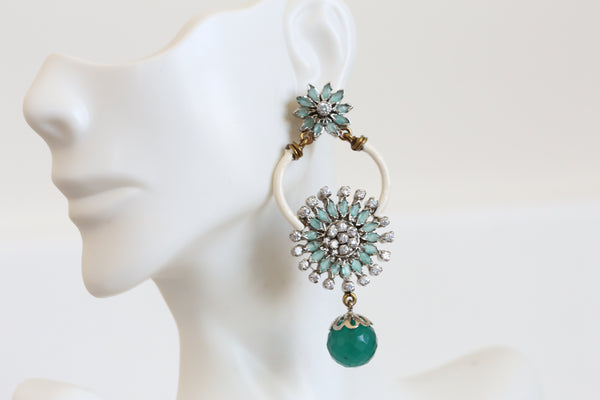 Emerald Victorian Earrings