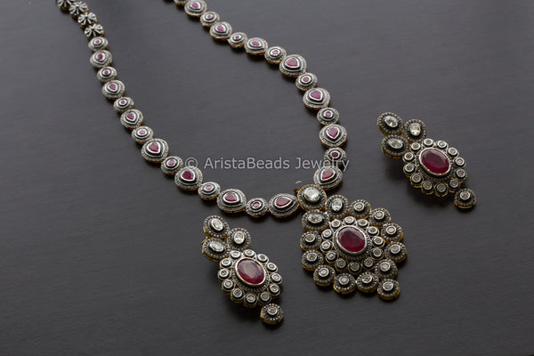 Ruby Victorian Necklace