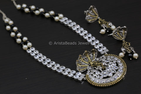 Shri Krishna SheshNaag Necklace - Clear