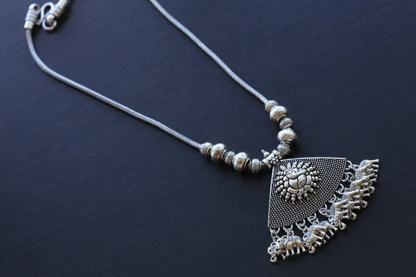 Ganesha Oxidized Chain Necklace