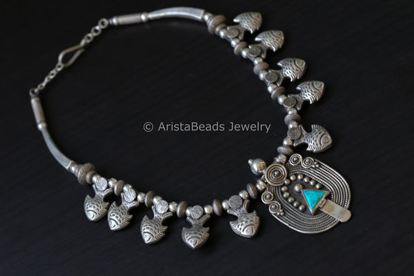 925 Sterling Silver Tribal Necklace