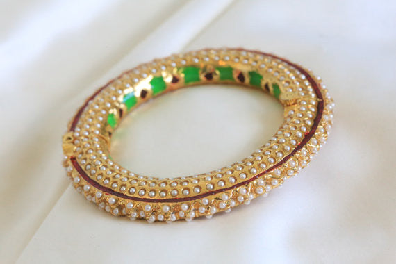 Jadau Bangle Bracelet - AristaBeads Jewelry - 1