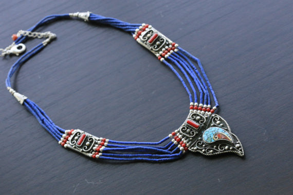 Reversible Tibetan Necklace - AristaBeads Jewelry - 2