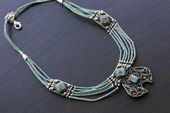 Reversible Nepalese Necklace - AristaBeads Jewelry - 4