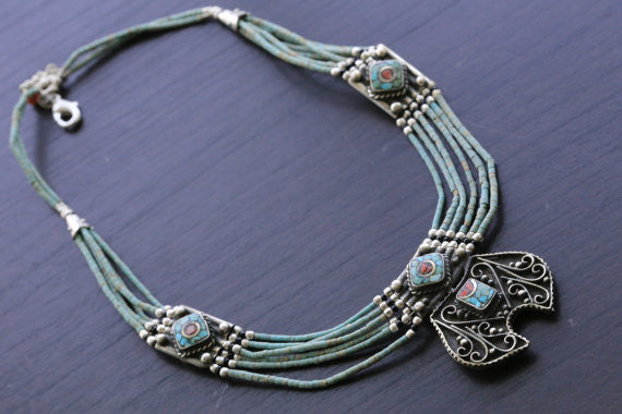 Reversible Nepalese Necklace - AristaBeads Jewelry - 1