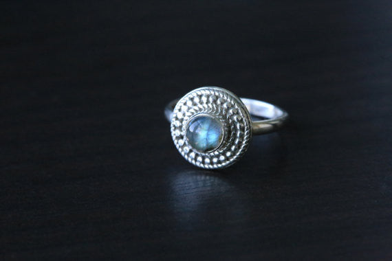 Labradorite 925 Sterling Silver Ring US7 - AristaBeads Jewelry - 1