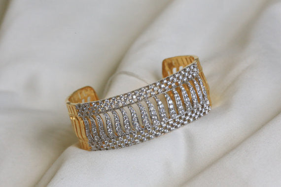 CZ Bangle Kada Barcelet - AristaBeads Jewelry - 2