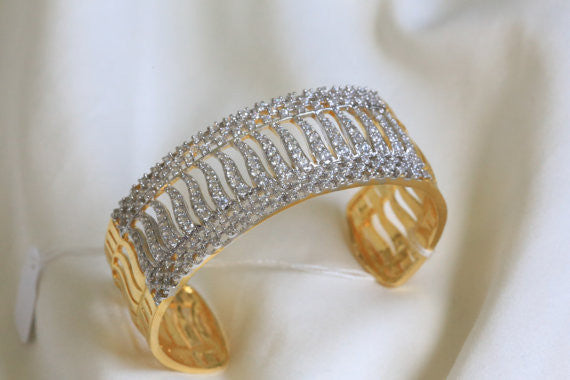 CZ Bangle Kada Barcelet - AristaBeads Jewelry - 3