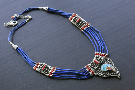 Reversible Tibetan Necklace - AristaBeads Jewelry - 1