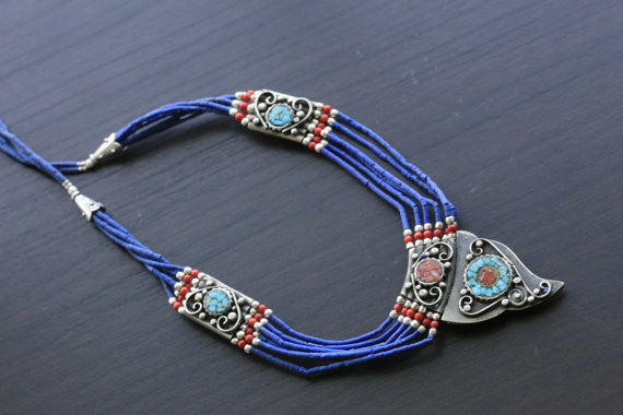 Reversible Tibetan Necklace - AristaBeads Jewelry - 3