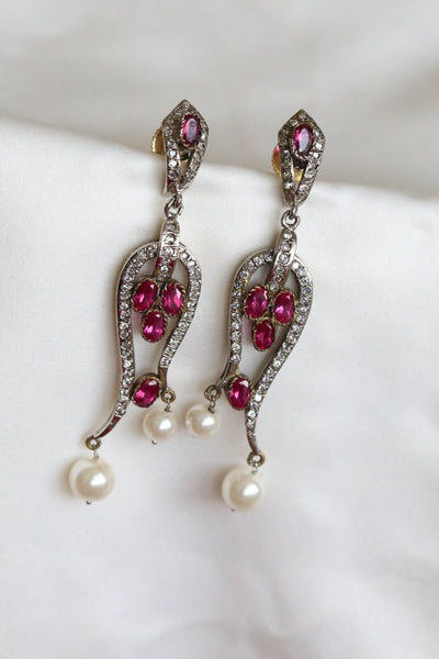 Victorian CZ Bridal Earrings - AristaBeads Jewelry - 4