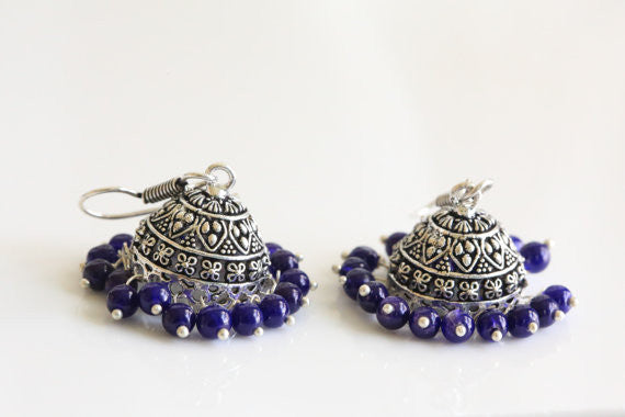 Oxidized Jhumka - AristaBeads Jewelry - 1
