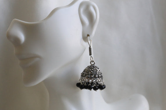 Oxidized Jhumka - AristaBeads Jewelry - 3