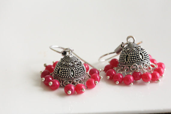 Cute small jhumka earrings - AristaBeads Jewelry - 1