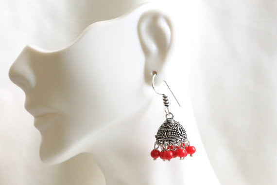 Cute small jhumka earrings - AristaBeads Jewelry - 2