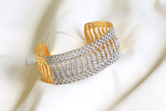 CZ Bangle Kada Barcelet - AristaBeads Jewelry - 1