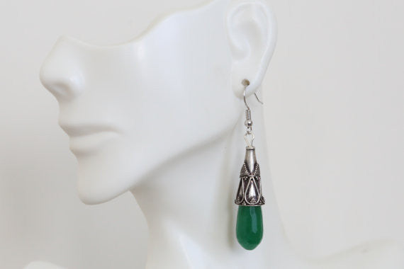 Silver Tribal Earrings - AristaBeads Jewelry - 2
