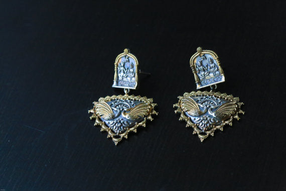 2 Tone Shiva Earring - AristaBeads Jewelry - 4