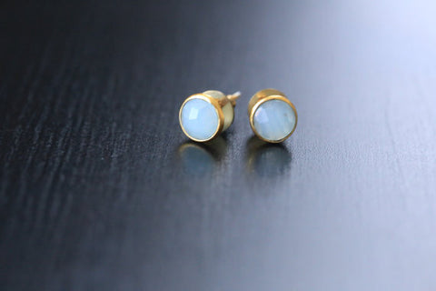 Cute Aqua Chalcedony Earrings - AristaBeads Jewelry - 1