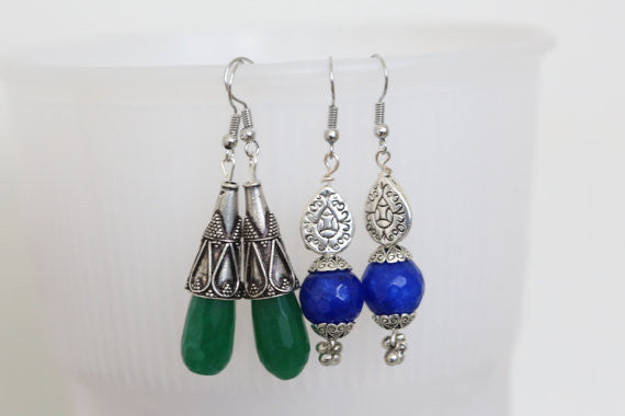 Silver Tribal Earrings - AristaBeads Jewelry - 1