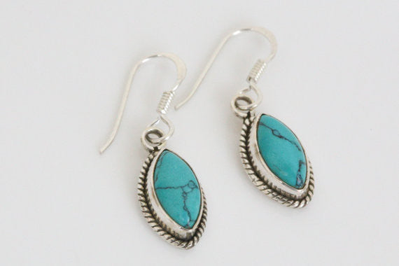 925 Turquoise Earrings - AristaBeads Jewelry - 2