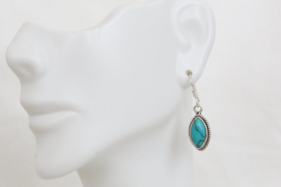 925 Turquoise Earrings - AristaBeads Jewelry - 4