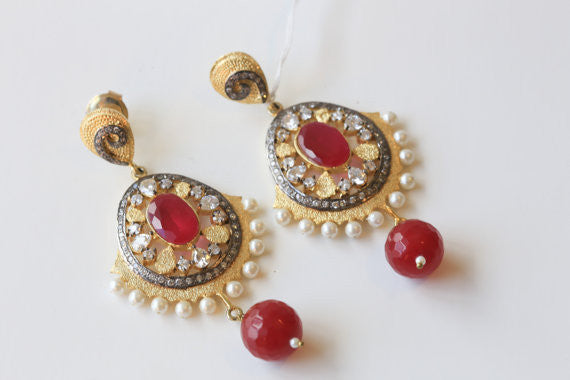 Designer turkish filigree earrings - AristaBeads Jewelry - 3