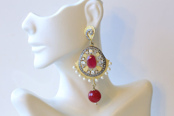 Designer turkish filigree earrings - AristaBeads Jewelry - 2